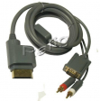 Kabel do Xbox > VGA + 2Rca ( chinch) 1,5m