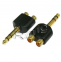 Adapter Jack 6,3-wt na Rca-2gn Gold